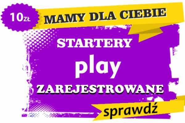 startery play zarejestrowane